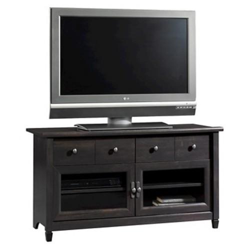 Edge Water 2 Drawer Panel TV Stand - Estate Black - Sauder