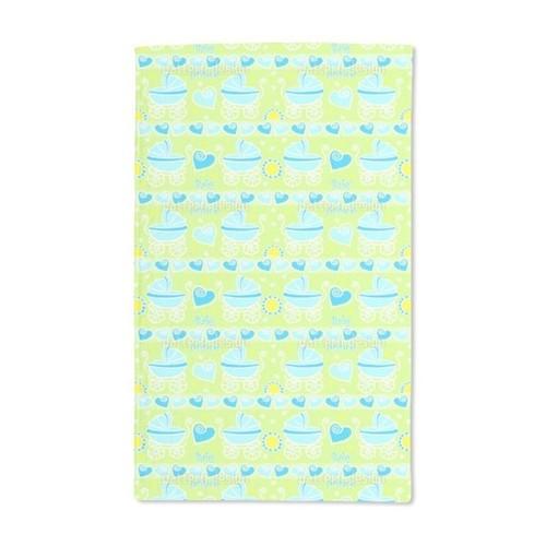 Neon Baby Blue Hand Towel (Set of 2)