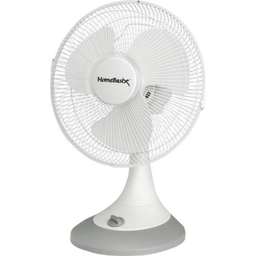 HOMEBASIX FT-30 3-Speed Oscillating Table Fan, 12-Inch