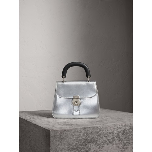 The Medium DK88 Top Handle Bag in Metallic Leather