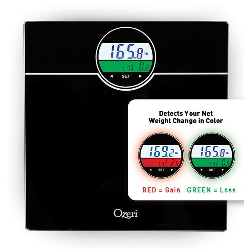 Ozeri WeightMaster 400 lbs. Digital Bath Scale with BMI and Weight Change Detection