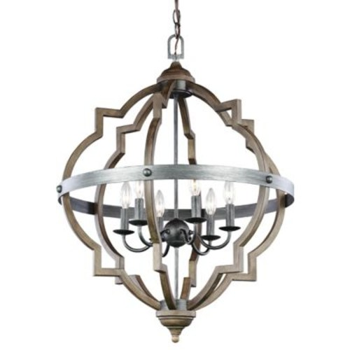 Socorro 6-Light Foyer Chandelier [Light Option : Incandescent]