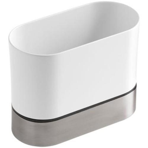 KOHLER Stainless Steel Kitchen Brush Caddy in White