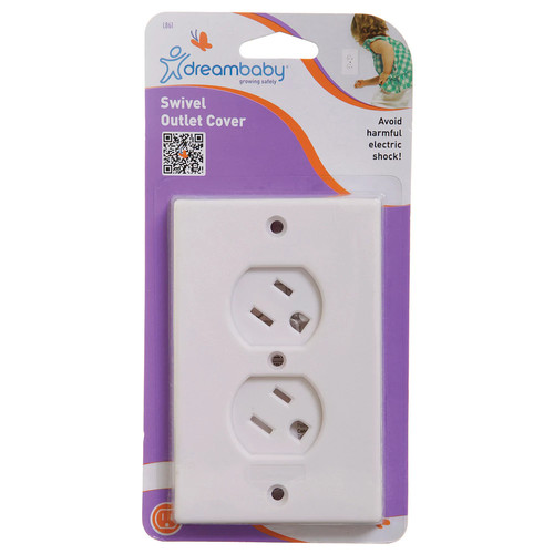 Dreambaby Swivel Outlet Cover, White
