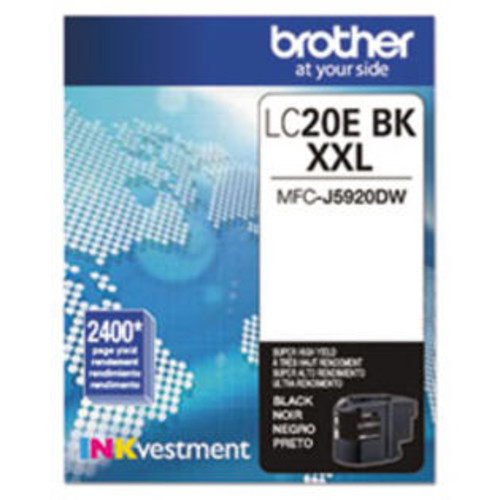 Brother LC20EBK Innobella Super High-Yield Ink, Black