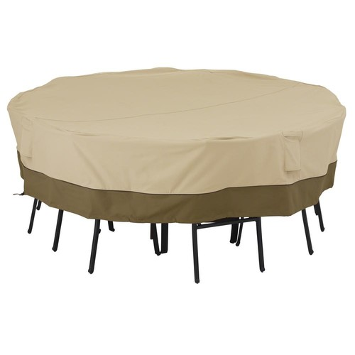 Classic Accessories Veranda Medium/Large Square Patio Table and Chair Set Cover