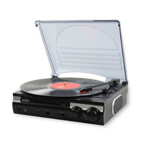 Jensen 3-Speed Stereo Turntable w/ Speakers