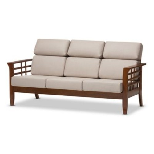 Larissa Sofa in Taupe/Brown