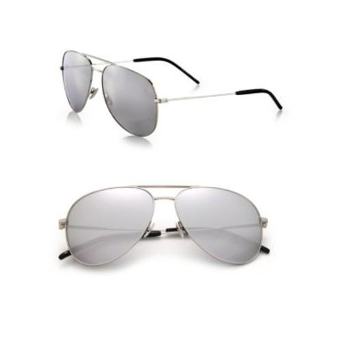 SAINT LAURENT Classic 11 59Mm Oversize Aviator Sunglasses