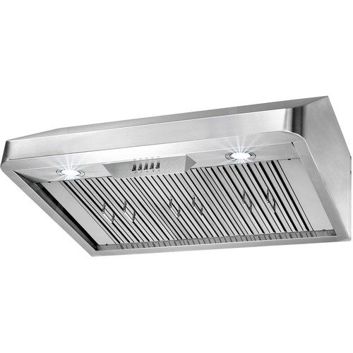AKDY 36 in. Under Cabinet Range Hood in Stainless Steel with LEDs and Electronic Push Buttons