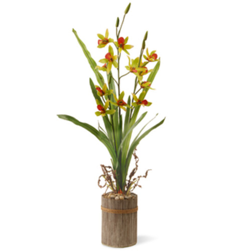 National Tree Company Artificial Plants 30-inch Cream Potted Flower