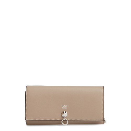 FENDI Calfskin Leather Wallet On A Chain