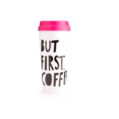 Ban.do 40735 Hot Stuff Thermal Mug, But First Coffee [1, Casual]