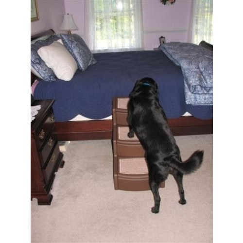 Pet Gear Easy Step III Pet Stairs, 3-Step for cats and dogs [Cocoa, For pets up to 150 pounds]