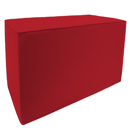 Jordan Manufacturing Double Square Pouf with matching welt, Veranda Red