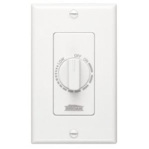 Broan Electronic Variable-Speed Fan Control in White