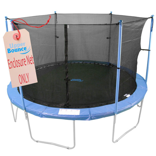 Trampoline Replacement Enclosure Net, Fits For 8 FT. Round Frames, With Adjustable Straps, Using 4 Poles or 2 Arches - Net Only