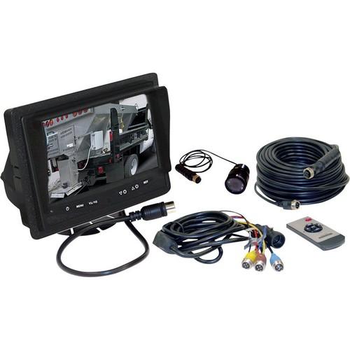 Buyers Products Company Rear Observation System with Recessed Camera  7in. TFT-LCD Color Monitor, Weatherproof,
