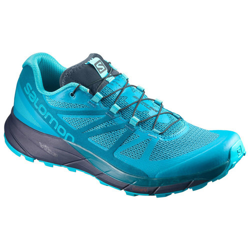 SALOMON Womens Sense Ride Trail Running Shoes, Bluebird