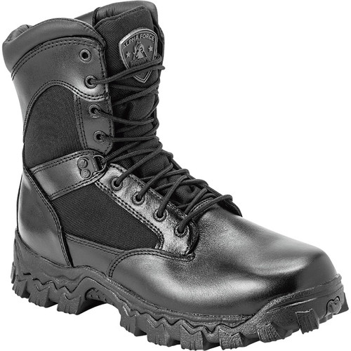 Rocky 8in. AlphaForce Zipper Waterproof Duty Boot  Black, Size 14, Model# 2173