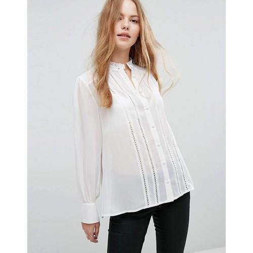 Look Crochet Trim Shirt