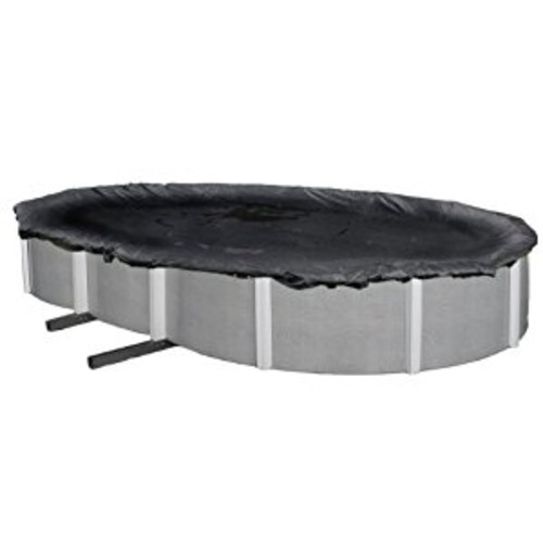 Blue Wave 12-ft x 20-ft Oval Rugged Mesh Above Ground Pool Winter Cover [12 by 20-Feet]