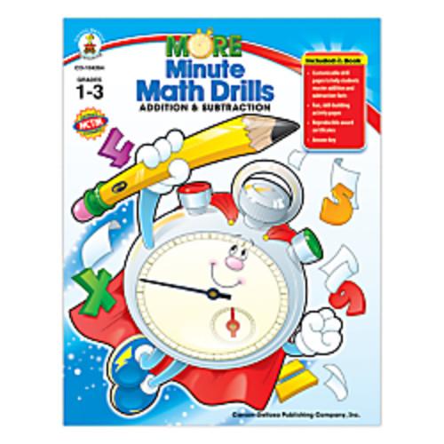 Carson-Dellosa More Minute Math Drills, Add/Subtract