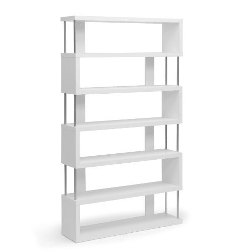 Wholesale Interiors Inc. Baxton Studio Barnes 6-Shelf Modern Bookcase, White