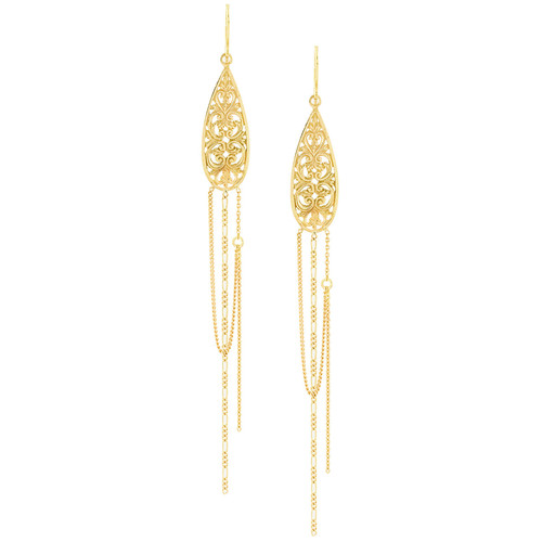 Wouters & Hendrix Gold Filigree earrings