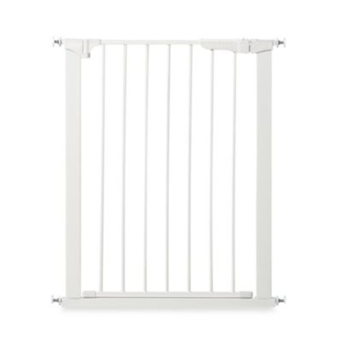 KidCo Gateway Extra Tall and Wide Auto Close Pressure Mount Gate in White