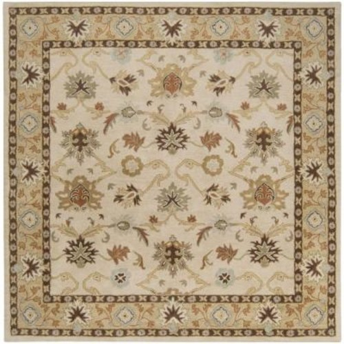 Artistic Weavers Cicero Ivory 4 ft. x 4 ft. Square Indoor Area Rug