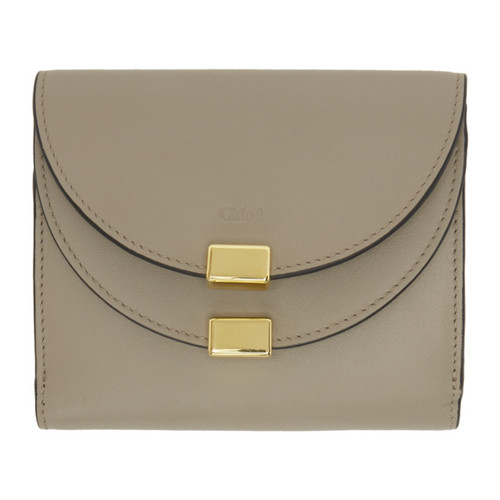 CHLOÉ Grey Square Georgia Wallet