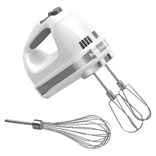 KitchenAid KHM7210WH 7-Speed Digital Hand Mixer with Turbo Beater II Accessories and Pro Whisk - White [White]