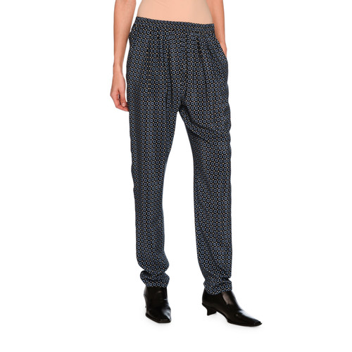 STELLA MCCARTNEY Tie-Print Jogger Pants, Black Pattern