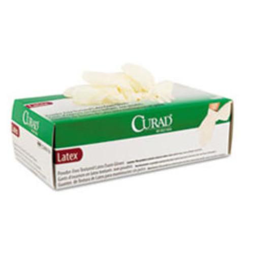 Curad Powder-Free Latex Exam Gloves, Large, 100/Box