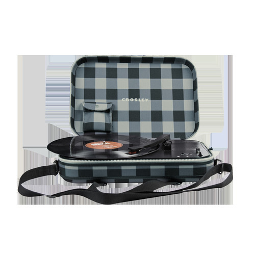 Messenger Turntable in Grey & Black Checkerboard design by Crosley