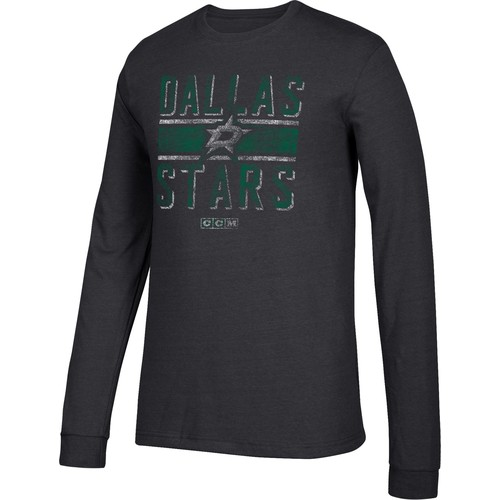 CCM Men's Dallas Stars Line Brawl Black Long Sleeve Shirt