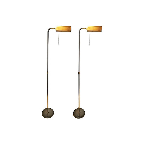 Deknudt Floor Lamps, Pair