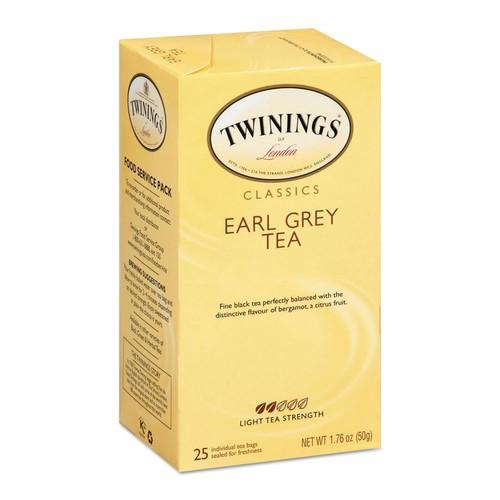 TWININGS Tea Bags, Earl Grey, 1.76 oz, 25/Box | PJP Marketplace