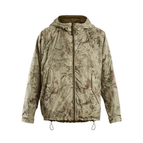 Reversible palm-print lightweight jacket