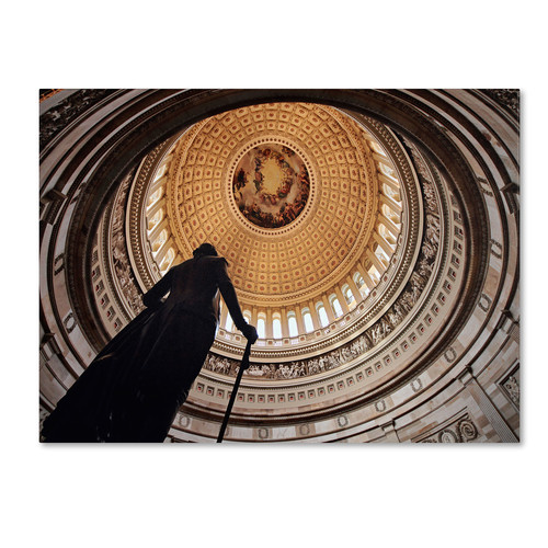 Trademark Global Gregory O'Hanlon 'US Capitol Rotunda' Canvas Art [Overall Dimensions : 14x19]
