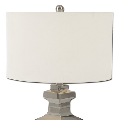 Casa Cortes Leeds Collection 24-inch Stainless Steel Table Lamp