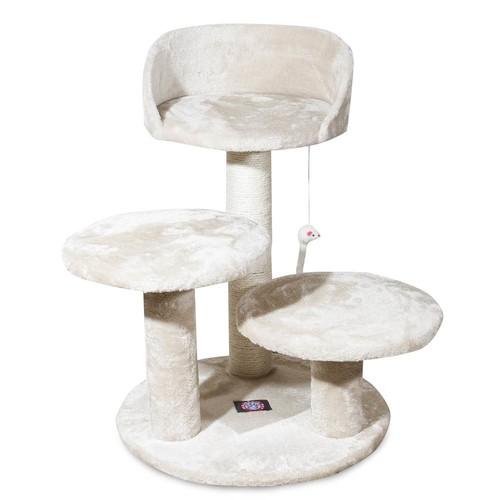Majestic Pet Products 27 inch Beige Casita Cat Furniture Condo House Scratcher Multi Level Pet Activity Tree [Beige Casita, 27 Inch]