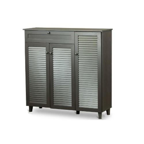 Baxton Studio Bookshelves & Bookcases Pocillo Wood Shoe Storage Cabinet