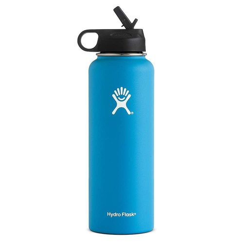 HYDRO FLASK 40 OZ Wide Mouth with Straw Lid, Pacific