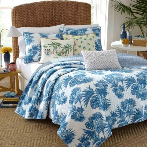 Blue Palm Quilt Set - Nine Palms