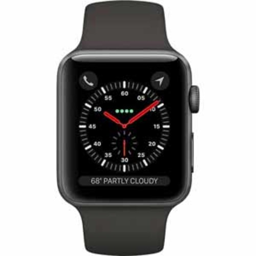 Apple Watch Series 3 GPS + Cellular 42mm Space Gray Aluminum Case with Gray Sport Band