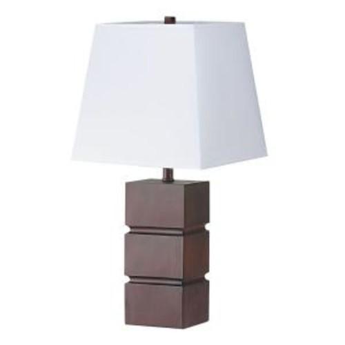 ORE International 27.5 in. Walnut Table Lamp