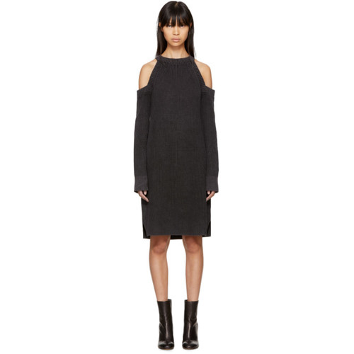 RAG & BONE Black Dana Cold Shoulder Dress