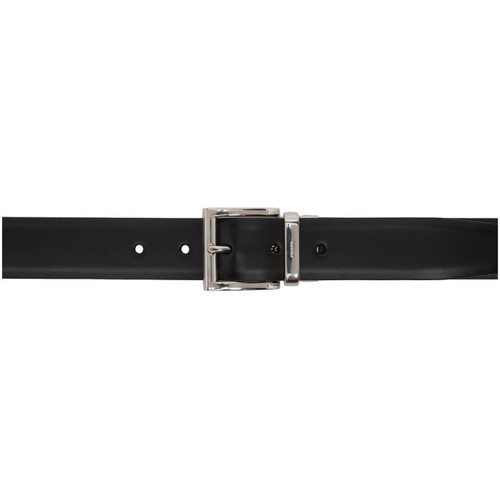 PRADA Reversible Black & Brown Leather Belt